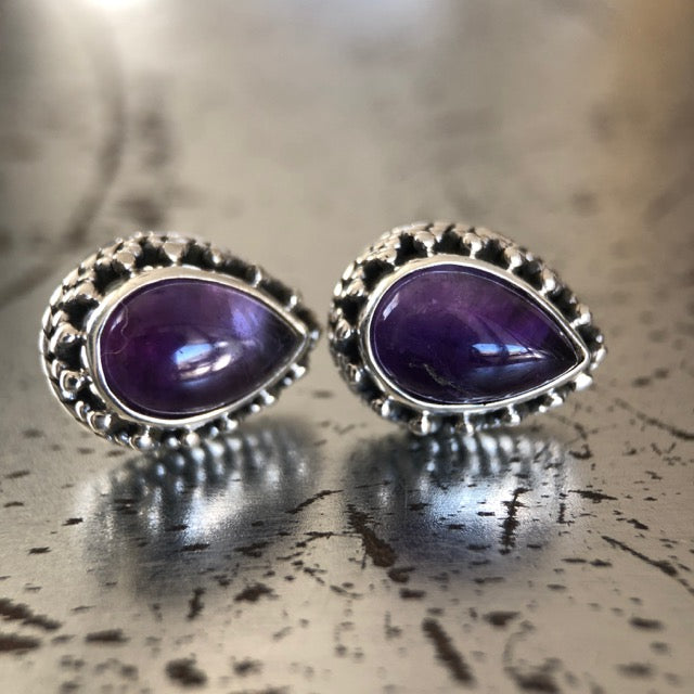 of with product original green argent earrings stud by london pearl argentoflondon drop amethyst