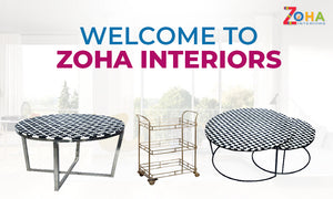 Bone inlay coffee table from Zoha Interior