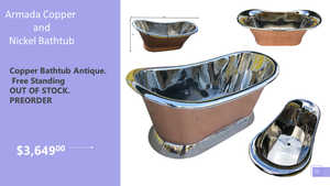 Armada Copper Nickel Bathtub to Cater your Desire of Luxurious Bathing