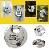 SECURITY 4 DIGIT COMBINATION DISC PADLOCK STEEL ALLOY HEAVY DUTY HARDENED DOOR LOCK