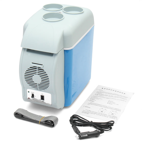 PORTABLE 7.5L MINI CAR FRIDGE FREEZER COOLER / WARMER 12V PORTABLE FRIDGE REFRIGERATOR
