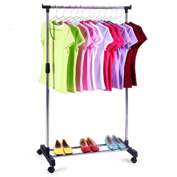 Portable Stainless Steel Clothes Organizer Hanger Rack Garment Coat Cloth Dryer