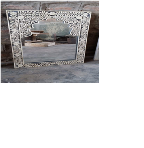 Designed Bone Inlay Mirror