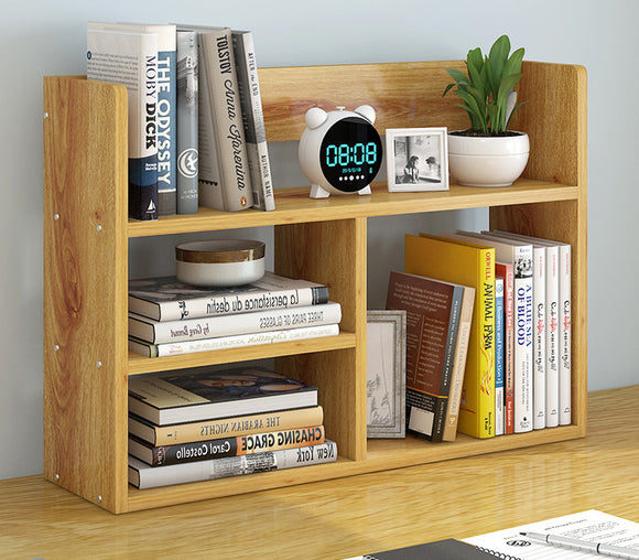 Melody Desk Hutch Storage Shelf Unit Organiser (Oak)