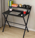 Express Folding Desk with Shelf (Black)