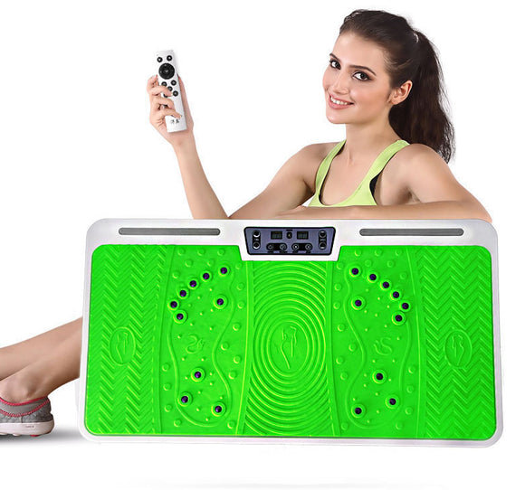 Vibration Fitness Machine Body Shaper Platform Green