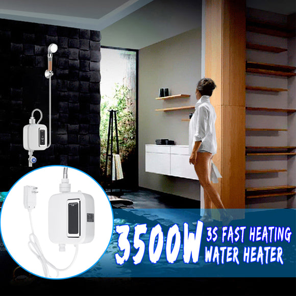 ZAL0009 - 3500W 220V ELECTRIC TANKLESS INSTANT HOT WATER HEATER KITCHEN FAUCET BATH SHOWER HEAD