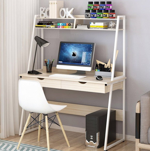 Liberty Computer Desk Workstation with Shelves & Drawers (White Oak)