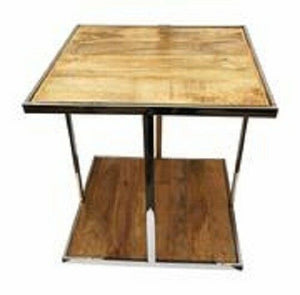 Zeus Square Wood and Metal Coffee Table