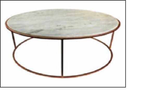 Carter Coffee Table White Marble