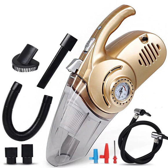 4 In 1 High Power Portable Wet & Dry Car Vacuum Cleaner with Air Compressor
