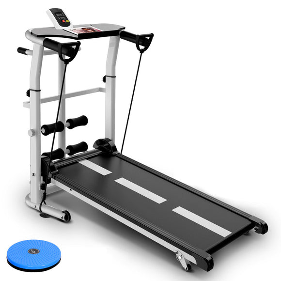 3 in 1 Multifunction Manual Treadmill, Sit Up, Waist Twister Exercise Machine