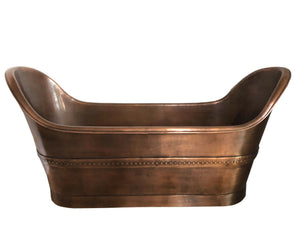 Zachary Copper Bathtub Antique Handmade-Huge Size One Off New Design Hammered free standing