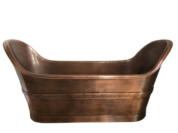 Copper Bathtub Antique Handmade-Huge Size One Off New Design Hammered