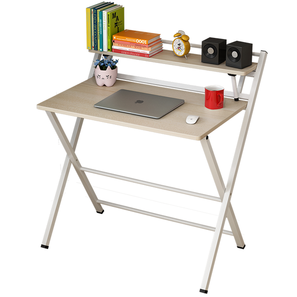 Express Folding Desk with Shelf (White) - SOLD OUT