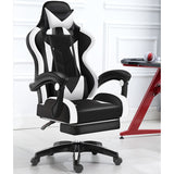 Glory Advanced Deluxe Executive High Back Gaming Reclining Office Chair with Footrest (White & Black)