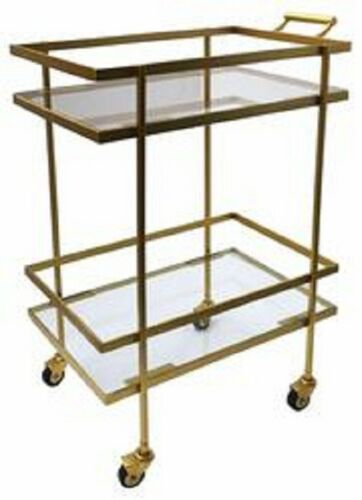 Hermes Bar Cart/Trolley With Golden Touch