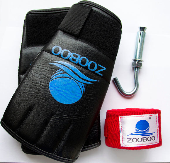 Accessories Pack for Heavy Duty Punching Bag (Boxing Gloves, Strap & Hook)
