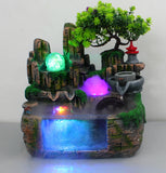 Calming Fountain Water Feature Ornament with Fish Tank