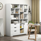 Havana Wardrobe Cupboard Bookshelf with Drawer, Cabinet, Shelf
