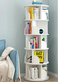 Sanctuary 360-degree Rotating 5 Tier Display Shelf Bookcase Organizer (White)