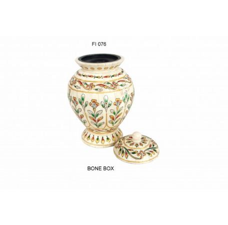 BONE JAR HAND PAINTED