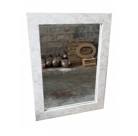 WHITE BONE INLAY MIRROR