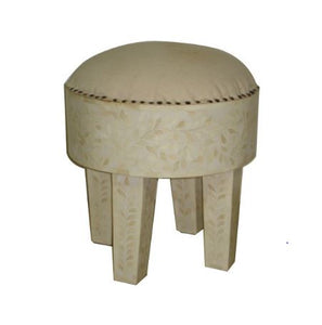 Canvas Bone Inlay Stool