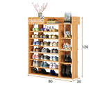 Maxim 8 Tier Shoe Rack Storage Organizer with Drawer (White)