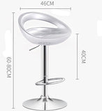 2 x Envy High Gloss Designer Bar Stools (WHITE - Set of 2)