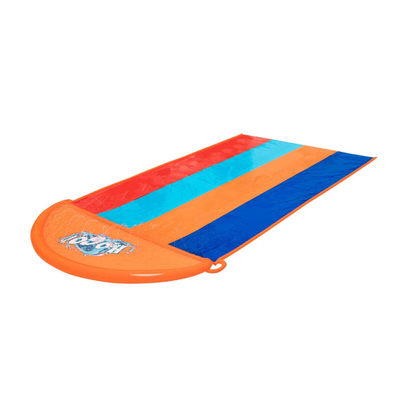 Bestway Water Slip And Slide Kids Inflatable Splash Toy Quadruple 4.88M