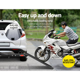 "Giantz Motorcycle Carrier 2 Arms Rack Ramp Motorbike Dirt Bike 2""Hitch Towbar"