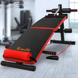Everfit Adjustable Sit Up Bench Press Weight Gym Home Exercise Fitness Decline