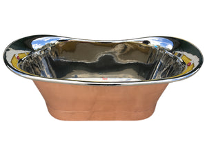 COPPER NICKEL BATHTUB HAND MADE
