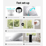 Devanti Portable Air Conditioner Cooling Mobile Fan Cooler Dehumidifier White 2500W