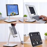 Full Motion 3 in 1 Smartphone Tablet and Notebook Holder White