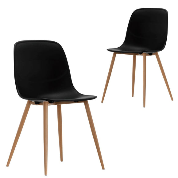 Erin Black Versatile Dining Chair Set of 2