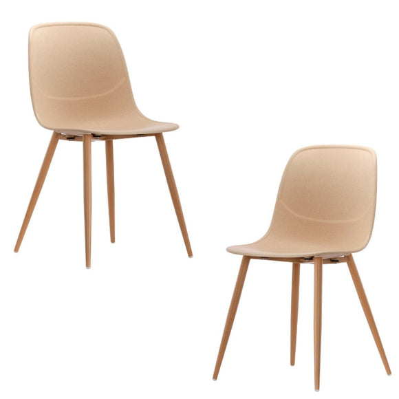 Erin Natural Versatile Dining Chair Set of 2