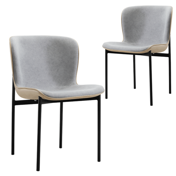 Harris Grey Mid-Century Design Dining Chair Set of 2