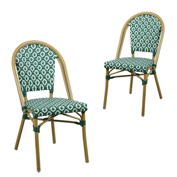 Lana Green Outdoor Dining Chair Set