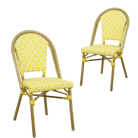 Lana Yellow Outdoor Dining Chair Set