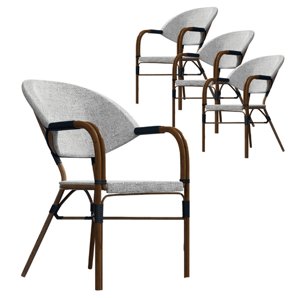 Riley Cozy Boho Dark Dining Chair Set of 4