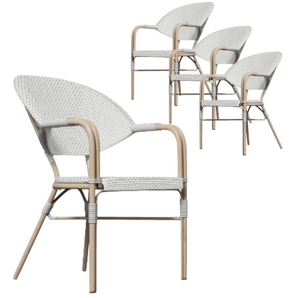 Riley Cozy Boho Light Dining Chair Set of 4