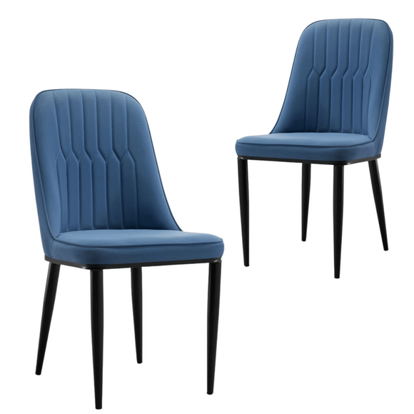 Stan Navy Elegant Classic Design Dining Chair Set of 2
