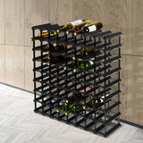 Artiss 72 Bottle Timber Wine Rack Wooden Storage Wall Racks Holders Cellar Black