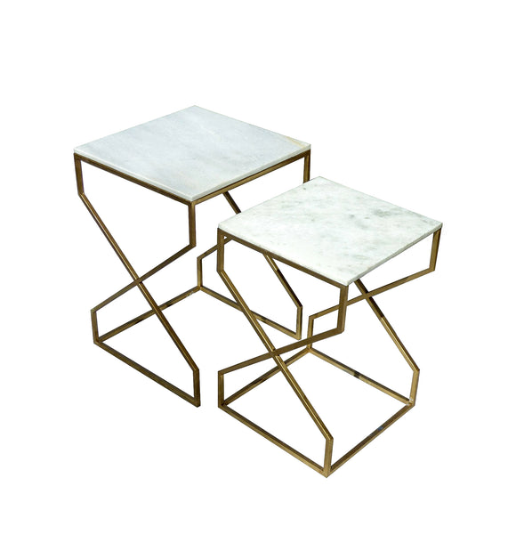 Coffee Table marble top  set of 2 - Z56003