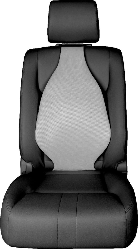 Universal Seat Cover Cushion Back Lumbar Support THE AIR SEAT New GREY X 2