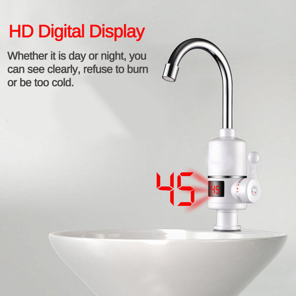 DIGITAL DISPLAY ELECTRIC HOT FAUCET TAP UNDER THE WATER WITH LEAKAGE PROTECTION
