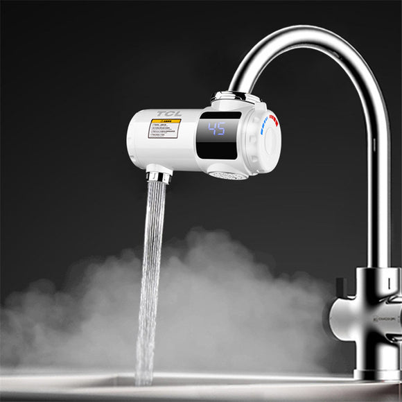 TCL 3000W 220V ELECTRIC INSTANT HEATING FAUCETS KITCHEN HOT&COLD WATER HEATER WITH TEMPERATURE DISPLAY
