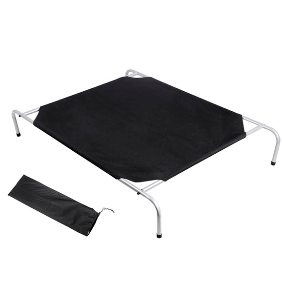 i.Pet Extra Large Canvash Heavy Duty Pet Trampoline - Black